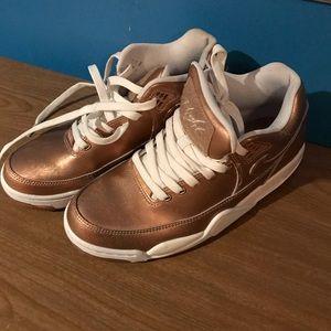 Gently used Rose Gold Nike Flights